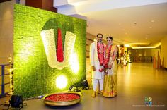 Weddings Discover 15 Green Decor Ideas That Are Trending Right Now Desi Wedding Decor, Wedding Hall Decorations, Marriage Decoration, Wedding Mandap, Backdrop Decorations, Festival Decorations, Green Wedding, Backdrop Design, Wedding Preparation