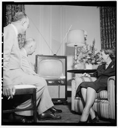 Dwight and Mamie Eisenhower Watching the 1952 Republican National Convention Chicago, Illinois, 1952 Library of Congress Prints and Photographs Division