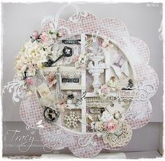 Crafteezee: Flower Shadow Box/Frame and a Christmas Card