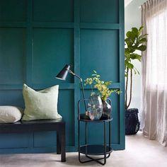 Farger stue - Inspirasjon til stuen - Tips og stiler | Fargerike Entryway Bench, Living Room, Interior Design, Furniture, Color, Home Decor, Modern, Entry Bench, Nest Design