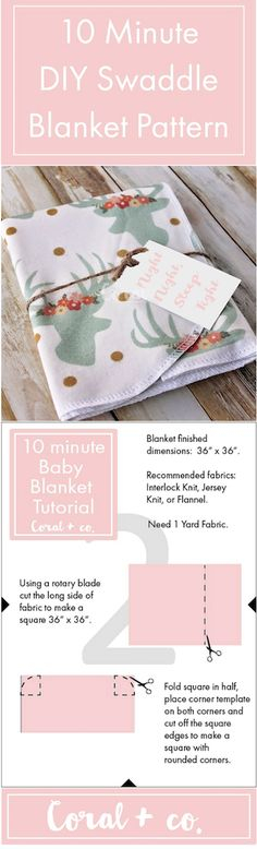 How to Make a Swaddle Blanket: 10 Free DIY Patterns!