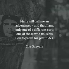 54 Famous quotes and sayings by Che Guevara. Here are the best Che Guevara quotes that you can read to learn more about his ideas and belief. Che Guevara Quotes, Great Quotes, Inspirational Quotes, Famous Quotes, Call Me, Positivity, Sayings, Reading, Beautiful