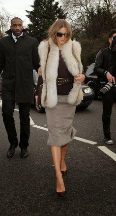London Fashion Week 2014 : Olivia Palermo at Burberry Prorsum