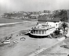 Ordenación de la Playa de Ereaga, año 1965. A la derecha el hotel restaurante Igeretxe (Colección Archivo municipal de Getxo) (ref. 00803)