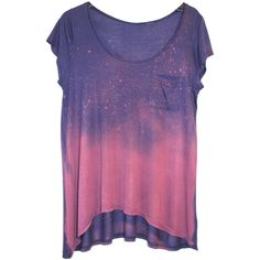 Bleached Dip-Dyed Cosmic-Style T-Shirt (Navy and Pink) (1,160 PHP) ❤ liked on Polyvore featuring tops, t-shirts, shirts, tees, tee-shirt, polka dot shirt, polka dot t shirt, pink polka dot shirt and pink t shirt