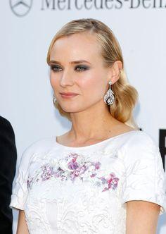 Diane Kruger Photo - 2012 amfAR's Cinema Against AIDS - Chanel plumed white gold diamond adorned earrings.