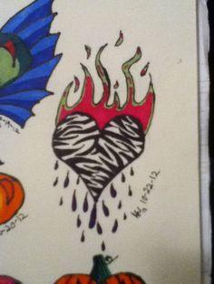 Zebra heart by Abigail Wells