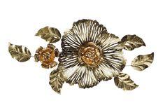 Ornament metalic perete Floare