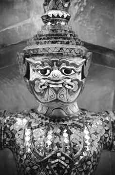 One of the god statues at Grand Palace in Bangkok. Thailand.