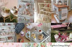 Another gorgeous blog with pretty country / shabby chic etc ideas.  So pretty. Cynthia's Cottage Design.