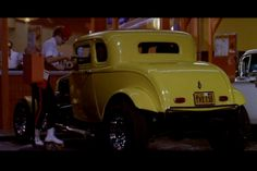 American Graffiti 1932 Ford Coupe: When this movie appeared in street-rodding was almost dead. John Milner's yellow five-window made it relevant again. American Graffiti, Hollywood Knights, Coaching, Famous Movies, Great Movies, Hot Cars, Custom Cars, Ducati, Classic Cars