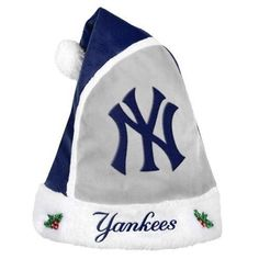 New York Yankees 2015 MLB Baseball Team Logo Holiday Plush Basic Santa Hat