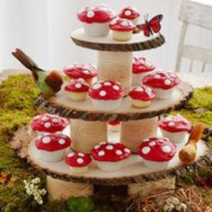 Mushroom cupcakes- perfect for a fairy party