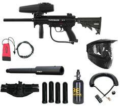 """Tippmann A-5 Sniper Paintball Gun Combo A5 N2 Empire BT Apex2 14"""" Barrel Stock Z"""