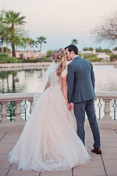 Megan + Nate's Boho Fairytale Wedding | Allure Bridals