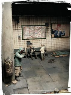 """""""Incoming Stranger"""" 1/35 scale.  By Peter Müller. Video game """"Metro 2033"""" inspired. #Post_Apocalyptic #diorama #vignette #figure_mode #S_T_A_L_K_E_R #metro2033 https://www.facebook.com/permalink.php?story_fbid=1527361797495323&id=100006645526917"""