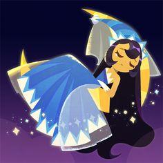 Dessert Illustration, Cookie Run, Character Art, Fan Art, Cookies, Drawings, Moonlight, Anime, Fictional Characters