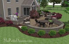 Download our easy to follow plan to build the Large Paver Patio Design with Grill Station and Seat Walls. How-to's, material list, dimensioned layouts.