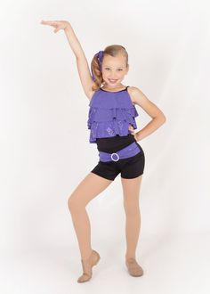 Jazz Tap Youth Dance Costume Purple Black Unitard | eBay