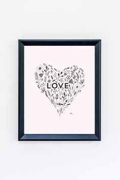 Download this free printable LOVE art print (perfect for Valentine's Day) designed by Erika Firm at The Sweetest Occasion