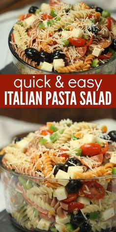 Quick & Easy Italian Pasta Salad