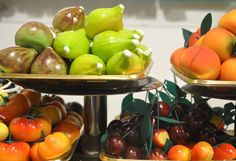 Marzipan sculpted into fruit shapes, and painted to resemble fresh fruit. A specialty of Sicilian pastry shops.