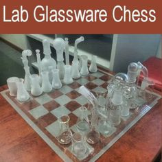 Lab Glassware Chess. WANT!!!