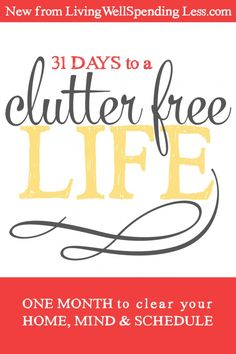 Is your STUFF controlling your life? Join the FREE Clutter Free Challenge & FINALLY get rid of the clutter that is filling up your home, mind & schedule...once and for all! #LWSLClutterFree