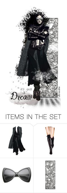 """""""Trinity"""" by ultracake ❤ liked on Polyvore featuring art, dolls and pantsuits"""