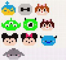Tsum Tsum Cross Stitch Pattern by moonprincessluna