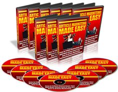 *NEW* Article Marketing Made Easy Video Tutorials (6 Videos) with Master Resale Rights !