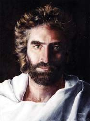 "Jesus. Painted by 8-year-old Akiane Kramarik. Was referenced in the book ""Heaven is For Real""- His eyes are Amazing..."