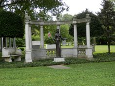 Life size statue of Saudra Curry Twist (1941-1981), Cave Hill Cemetery, Louisville, Kentucky
