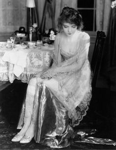 Lillian Gish in her wedding gown