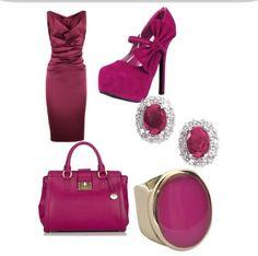 Elegant maroon outfit