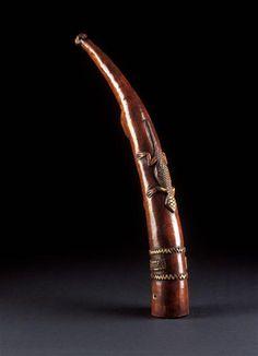 Africa | Nigeria | Ivory Trumpet | 17th century | Réunion des Musées Nationaux-Grand Palais -