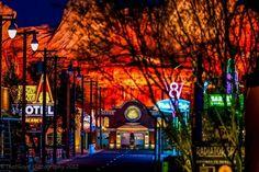 Cars Land at night #Disneyland