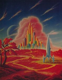 Morris Scott Dollens was a prolific writer and illustrator of science fiction. In the 1930s he published one of the first science fiction fanzines when he was just 16. He went on to paint and sell thousands of works, but remained relatively unknown in the science fiction art world.