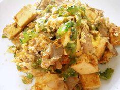 Okinawa food in Japan 旨い!ゴーヤチャンプル Yummy Vegetable Recipes, Great Recipes, Dinner Recipes, Favorite Recipes, Healthy Recipes, Pork Recipes, Asian Recipes, Cooking Recipes, Ethnic Recipes