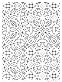 Geometric Allover Patterns Coloring Book Dover Publications