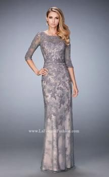 La Femme 21740 Lace Mother of the Bride Gown - Festliche Kleider Mother Of The Bride Gown, Mother Of Groom Dresses, Mothers Dresses, Mob Dresses, Dressy Dresses, Nice Dresses, Dress Formal, Beautiful Evening Gowns, Evening Dresses