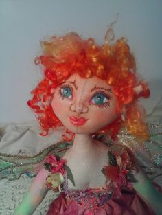 Rina Bell a Wild Flower Sprite A Coth Art Doll by Liz by lizparent