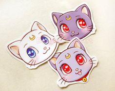Sailor Moon Cats Stickers. Sailor Moon Sticker. by BeagleCakesArt
