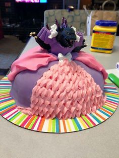 Princess Godzilla cake. She's beauty and she's grace, she'll spit fire in your face...