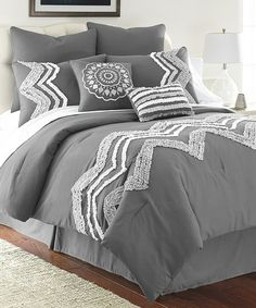 Another great find on #zulily! Platinum Kira Comforter Set by Colonial Home Textiles #zulilyfinds