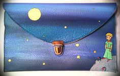 The little prince purse. Hand painted eco by HandmadeIndigoWorld