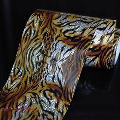 Tiger Fur Fashion Lady Nail Art Glue Transfer Foil Tips Toes Decor Sticker GL12 | eBay