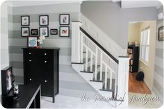 Great tutorial on wainscoting a staircase. I want to do this!!! How I finished the staircase (2 of 4).