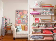 Before & After: From Scraps To Super Simple Pillow Me Sew Crazy   Apartment Therapy
