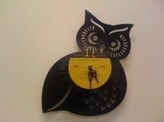 a vinyl record upcycled into an owl. They have zombie scene vinyls too